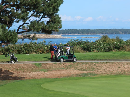 Golfing in Victoria, British Columbia, Canada